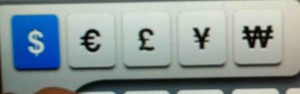 clavier iphone touche dollars