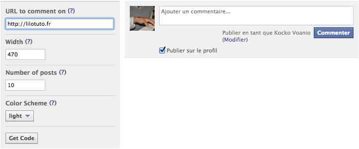 commentaires Facebook WordPress