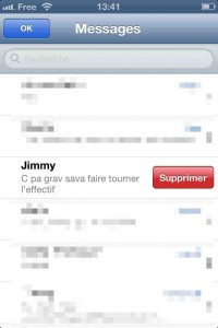 astuce iphone supprimer sms mail