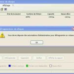 defragmenter windows sans droit administrateur