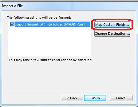 map custom fields