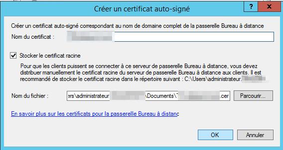 creer certificat auto signe