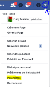 facebook parametre