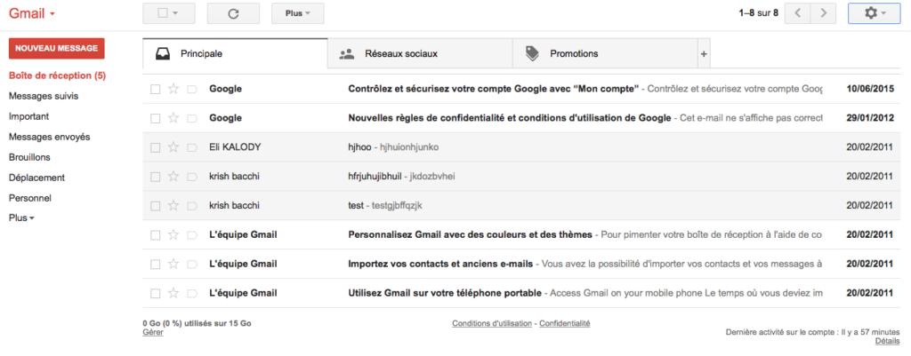 densité affichage normail gmail